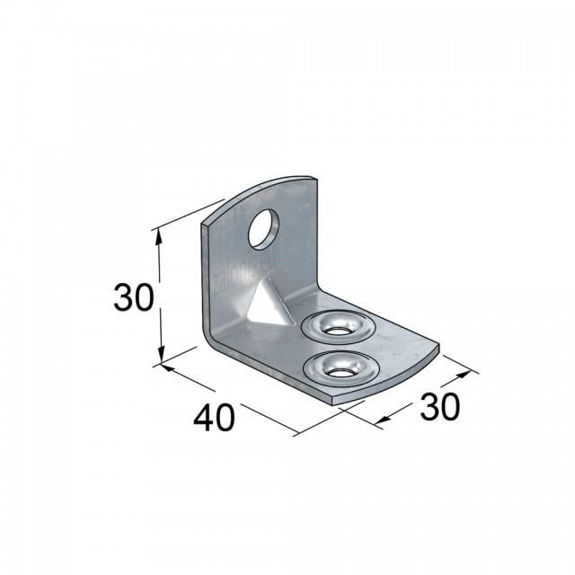 METAL CORNER 40x30x30 GALVANIZED